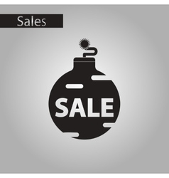 Black and white style icon christmas ball sale vector