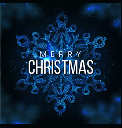 blue merry christmas banner background vector image