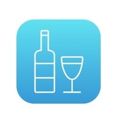 Bottle of wine line icon vector image