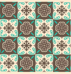 brown moroccan mosaic seamless pattern vector image