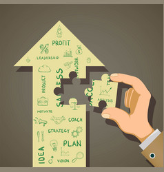 business development strategy and start-up concept vector image