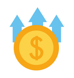 business money growth vector image