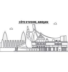 c te d ivoire abidjan line skyline vector image
