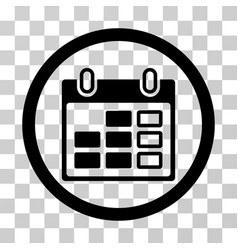 calendar week rounded icon vector image
