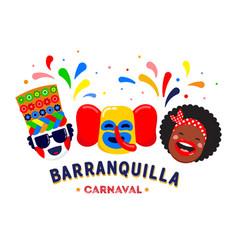 carnaval de barranquilla colombian carnival party vector image