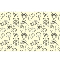 Children seamless texture Baby theme pattern with vector