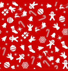 christmas seamless texture vector image