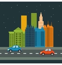 City design Building icon Colorful vector image
