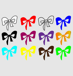 colorful bow on a white background vector image