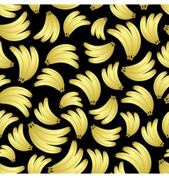 colorful yellow bananas fruits seamless black vector image