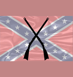 confederate silk flag vector image