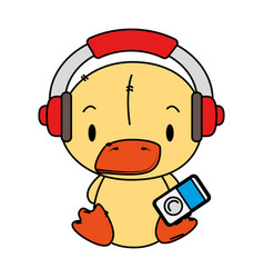 cute little duck character vector image