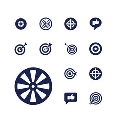Dartboard icons vector