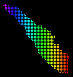 Dotted pixel spectrum sumatra island map vector