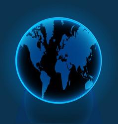 earth globe world blue vector image