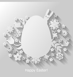Easter egg mix vector