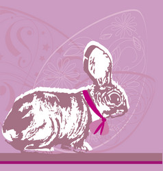 Easter eggs bunny drawing vector