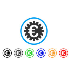 euro cog rounded icon vector image
