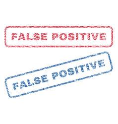 False positive textile stamps vector
