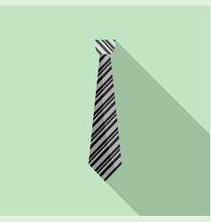 fashion tie icon flat style vector image
