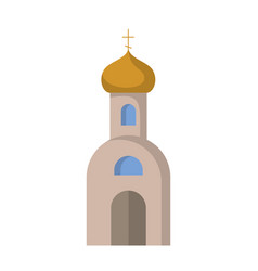 flat icon of the orthodox church vector image