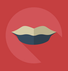 Flat modern design with shadow icons lip vector
