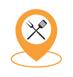 food location icon logo design element bbq or vector image