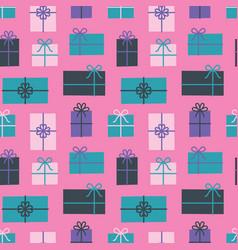 Gift box seamless pattern christmas presents vector