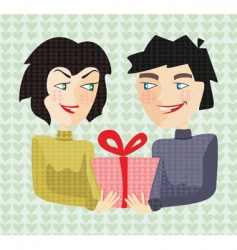 giving present vector image vector image