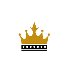 golden crown logo golden crown logo vector image