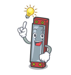Have an idea harmonica mascot cartoon style vector