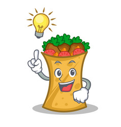 Have an idea kebab wrap character cartoon vector