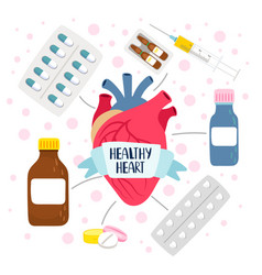 Heart medicine health vector
