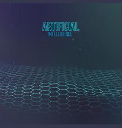 hexagonal background blue ai future technology vector image