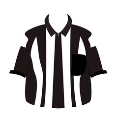 Isolated referee shirt vector