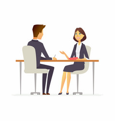 Job interview - cartoon people character isolated vector