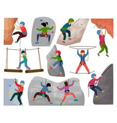 kids climbing climber children character vector image