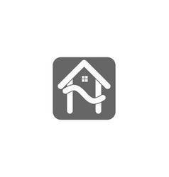letter h house logo designs inspiration isolated vector image