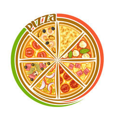 Logo for italian pizza vector