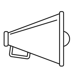 loudspeaker icon outline style vector image