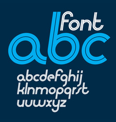 Lower case italic alphabet letters made vector