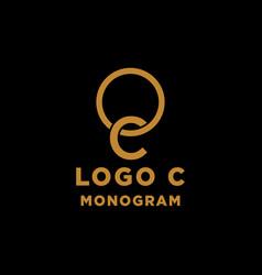 Luxury initial c logo design icon element isolated vector