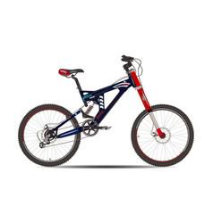 Mountain bike in flat style vector