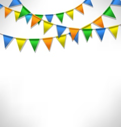 Multicolored bright buntings garlands on grayscale vector