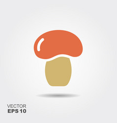 mushroom flat icon colorful logo vector image