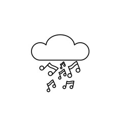 music notes cloud icon vector image