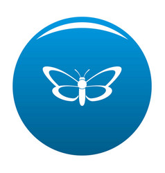 nice butterfly icon blue vector image