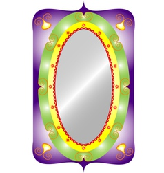 Oval mirror vector image
