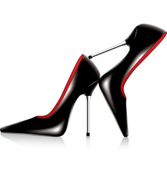 Pair high heel shoes vector