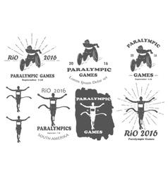paralympic games paralympics rio set vector image